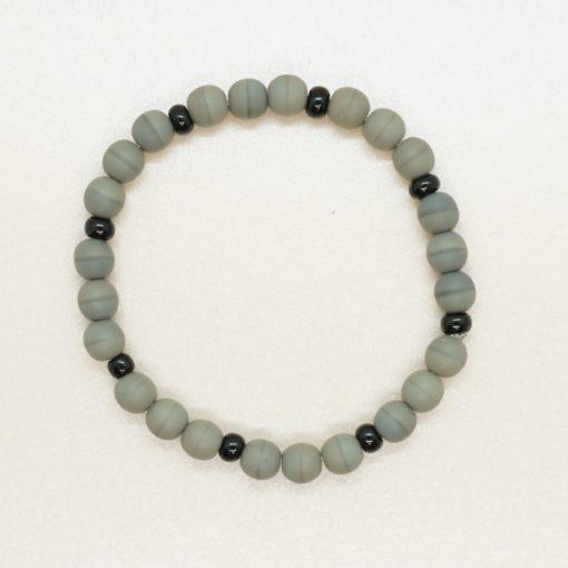 Partner-Armbänder aus grauen Perlen