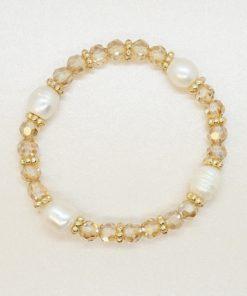 Perlen-Armband mit rosé Facett- und Süßwasserperlen
