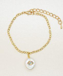 Goldenes Armband mit Süßwasserperle