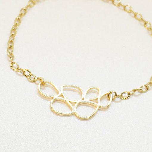 Goldenes Armband mit goldener Honigwabe
